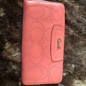 Handbags - Coach Signature Accordion Wallet